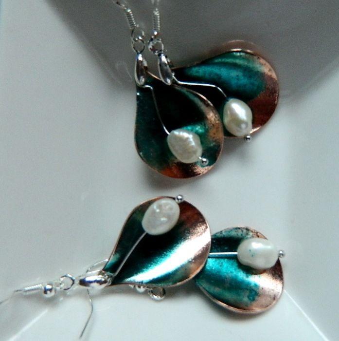 Kolczyki z perłą, w stylu vintage
