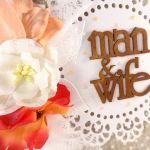 Kartka ślubna - manand wife  #099
