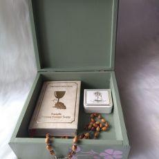 szkatułka z aniołkami wiktoriańskimi
