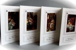 Zestaw 4 kartek świątecznych (nr 5) religijne
