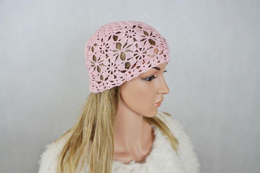 Czapka różowa - Modna czapka