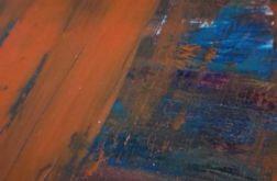 Obraz abstrakcja pomarańczowy 40x40