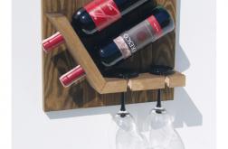 Półka stojak na wino i kieliszki TORST