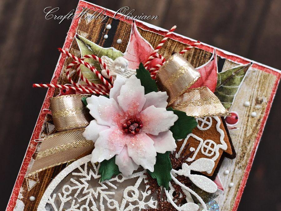 Świąteczna bombka-shaker box z aniołkiem