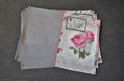 Podkładki pod talerze róże i emblematy