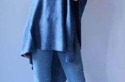 Klasyczne gładkie ponczo jeans