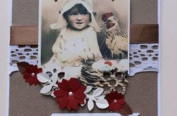 KARTKA WIELKANOCNA vintage