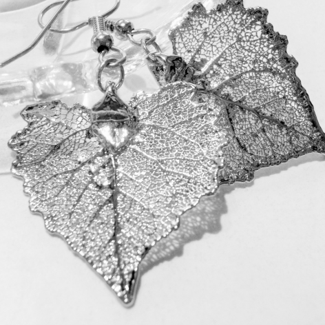 Listki bawelnay w srebrze925-kolczyki
