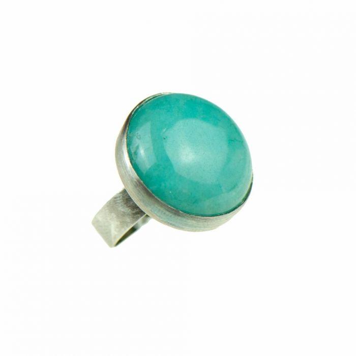 Pierścień z niebieskim kamieniem a758