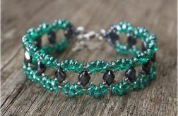 """bransoletka """"emerald & hematite"""""""