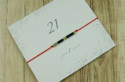 21 Bransoletka Lucky number Morse Code