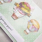 Kartka urodzinowa lub imieninowa z motywem balonów - Prawy bok