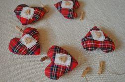 Girlanda  świąteczna z pięciu serduszek