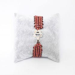 Bransoletka beadingowa patchworkowa