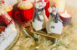 Zimowe bałwanki dekoracja na święta