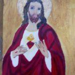 Serce Jezusa - ikona  - widok
