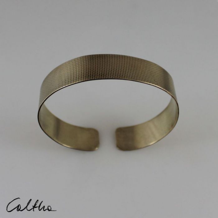 Płótno - mosiężna bransoleta 190419-01 - Mosiężna bransoleta