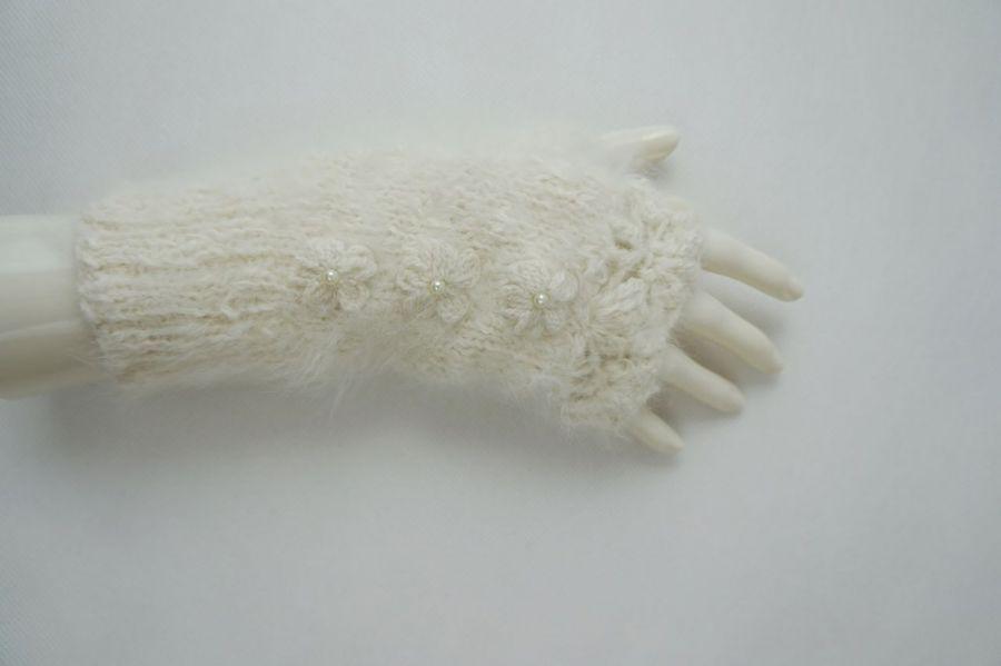 Rękawiczki mitenki angora - rękawiczki z angory