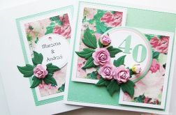 Kartka ROCZNICA ŚLUBU z różami #2