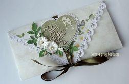 Kopertówka, kartka na ślub A62