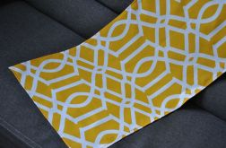 Bieżnik 40 x 115 - żółte arabeski