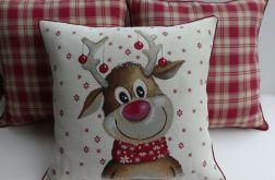 Poduszka gobelinowa Renifer Świąteczny