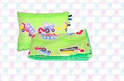 Koc MINKY przedszkolaka + poduszka koparka