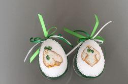 Haftowane jajka kurki zielony