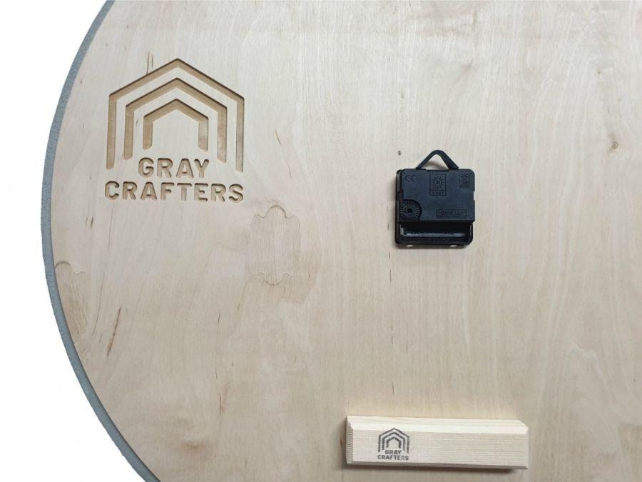Zegar Betonowy Grafitowy Złoty UNIKAT Stylowy -