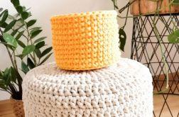 Koszyk 10x9cm,sznurek bawełniany,żółty.