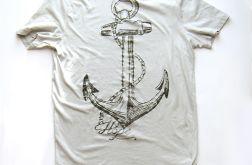 XXL- T-shirt z kotwicą - popielaty