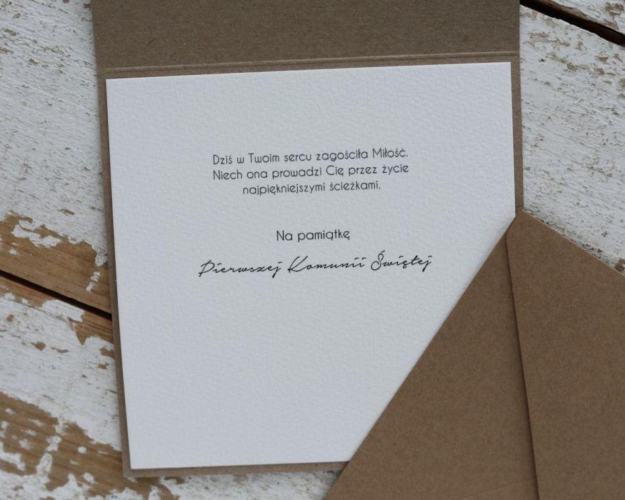 Ręcznie robiona kartka na komunię H1 -