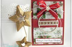 Kartka świąteczna z bombką 5