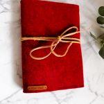 Filcowa okładka na książkę/zeszyt A4 czer