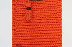 Torebka bawełna naturalna zero waste duża A4