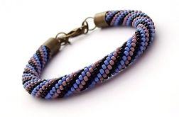 Bransoletka wąż czerń-fiolet-niebieski1