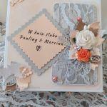 Kartka ślubna - Pudełko na kartkę