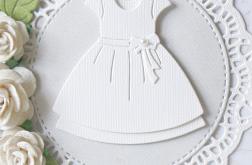 Pamiątka Chrztu Świętego z białą sukienką v.7
