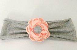 Opaska do włosów z kwiatem kanzashi róż