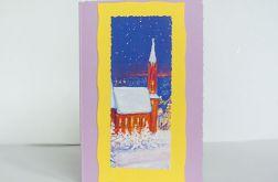 Kartka świąteczna - zimowy pejzażyk 22