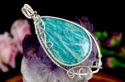 Amazonit, Srebrny wisior z amazonitem blue
