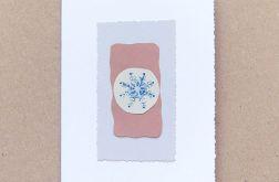 Kartka świąteczna płatek śniegu 24
