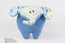 Mini słoń niebieski patchwork