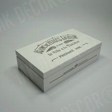 Drewniana szkatułka/pudełko prostokątne LOFT