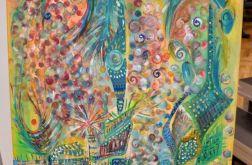 Akryl na płótnie - abstrakcja