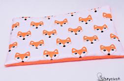Poduszka płaska do wózka liski pomarańcz