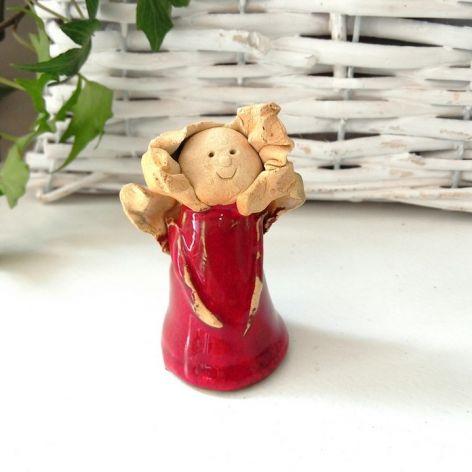 Aniołek ceramiczny stojący mini