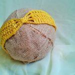 Opaska niemowlęca  żółta z motylkiem