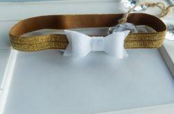 opaska niemowlęca złoto - biała