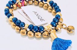 Zestaw 2 bransoletek Hematyt niebieski - 1